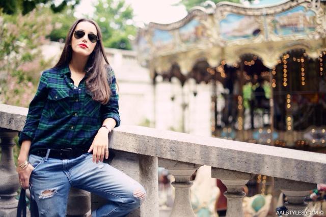 Chemise carreaux x boyfriend jeans-6
