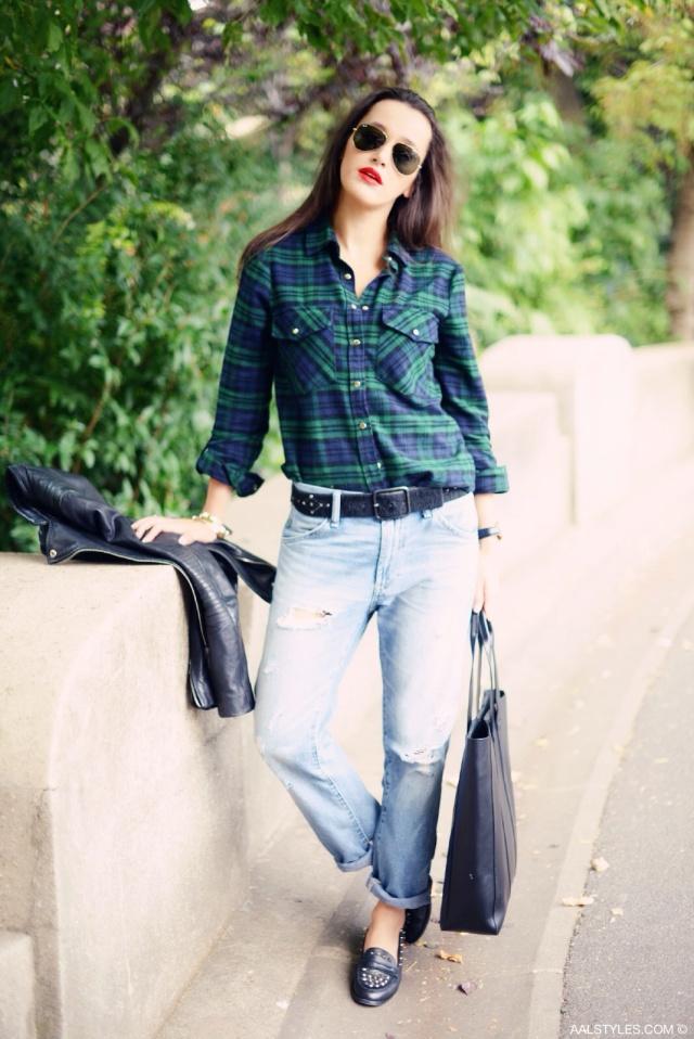 Chemise carreaux x boyfriend jeans-7