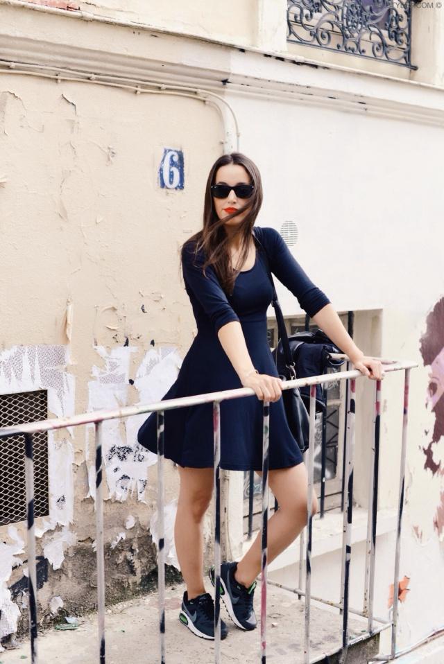 Little black dress x sneakers-1