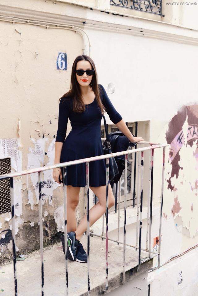 Little black dress x sneakers-2