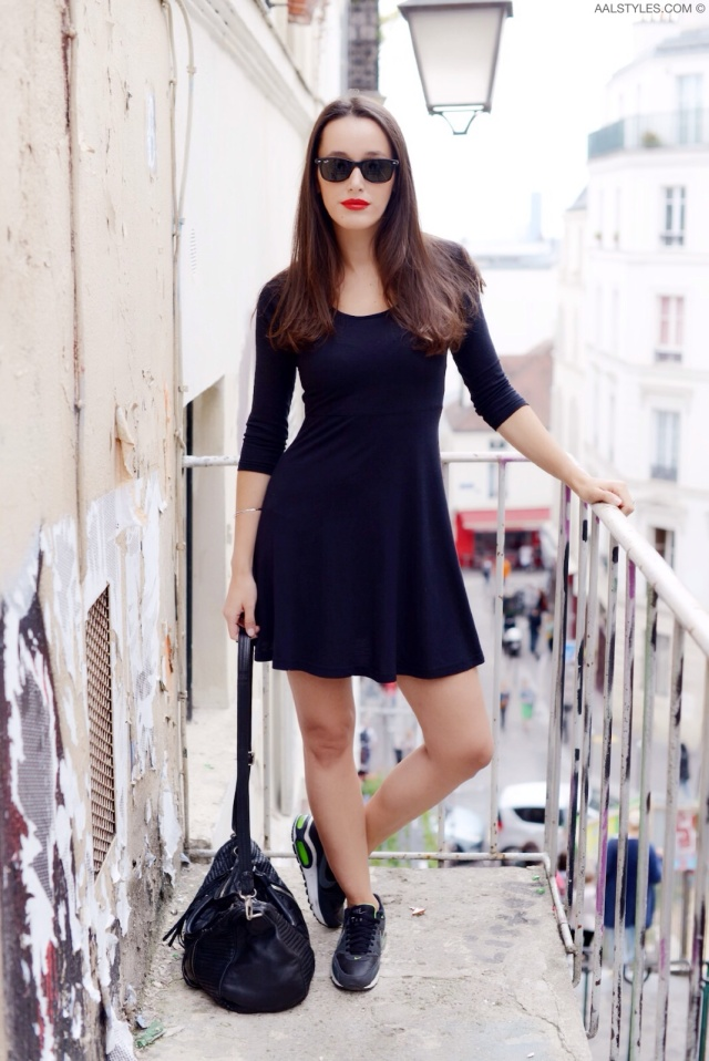 Little black dress x sneakers-3