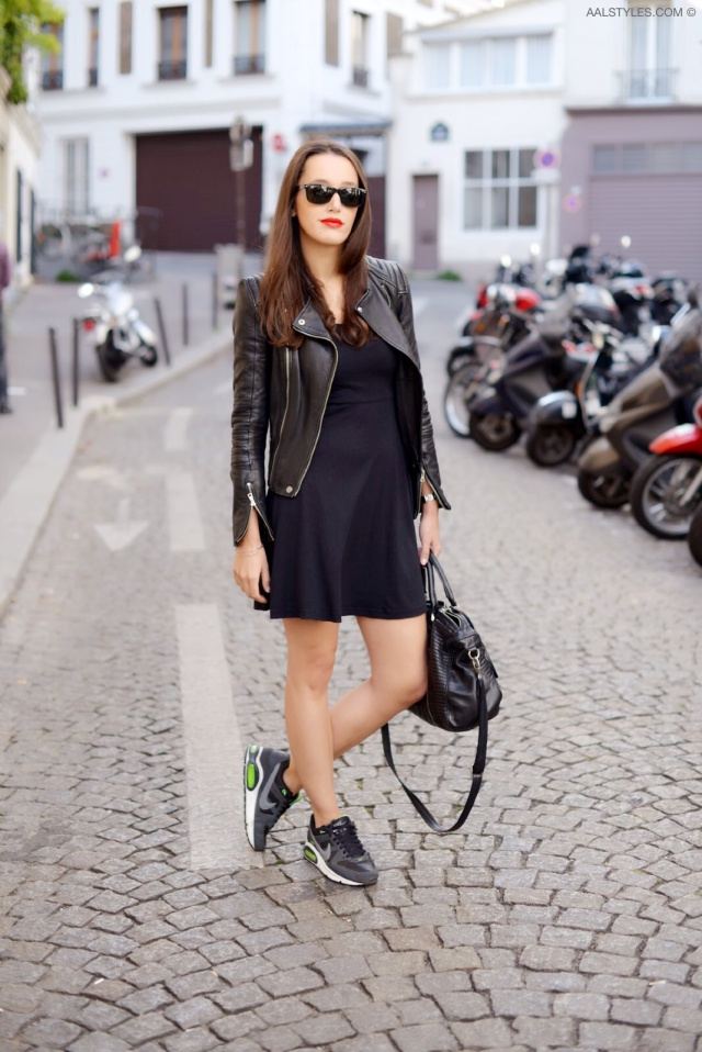 Little black dress x sneakers-5