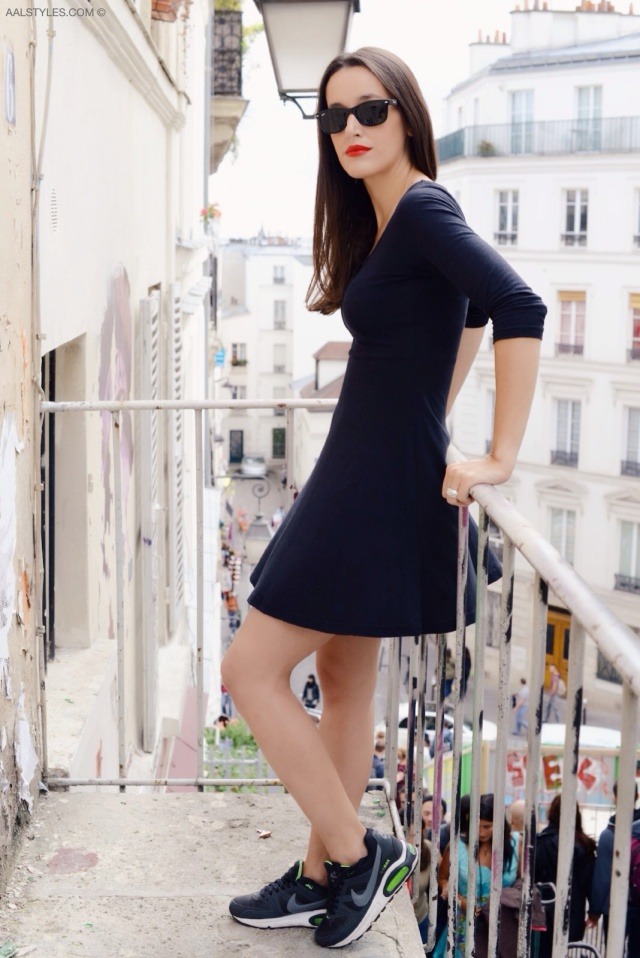Little black dress x sneakers-7