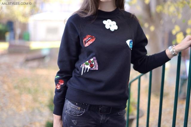 Jeans troué avec bas résille-3
