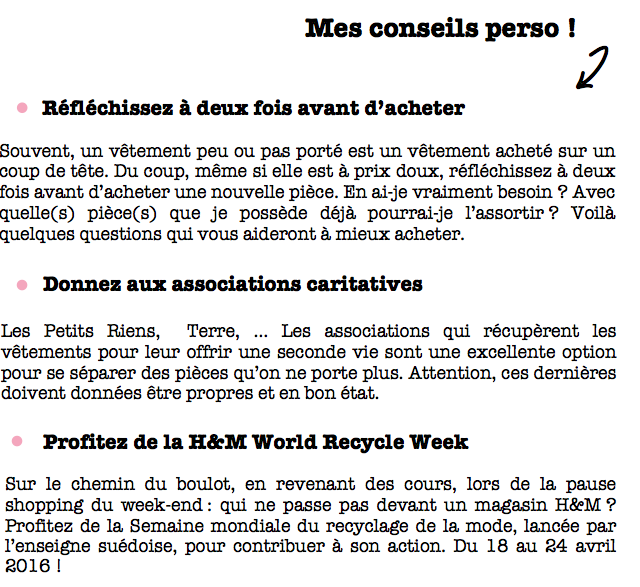 H&M-World Recycle Week-2016-Conseils