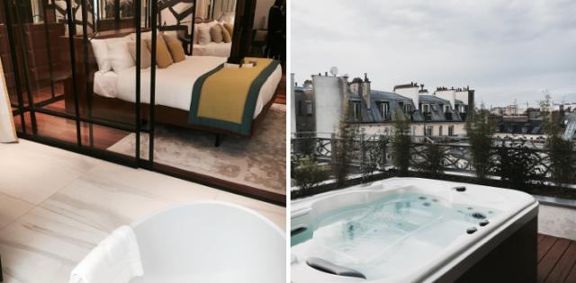 Jacuzzi with a rooftop view in Paris - Rooftop avec jacuzzi privé sur le toit - Renaissance Paris Republique Hotel-1